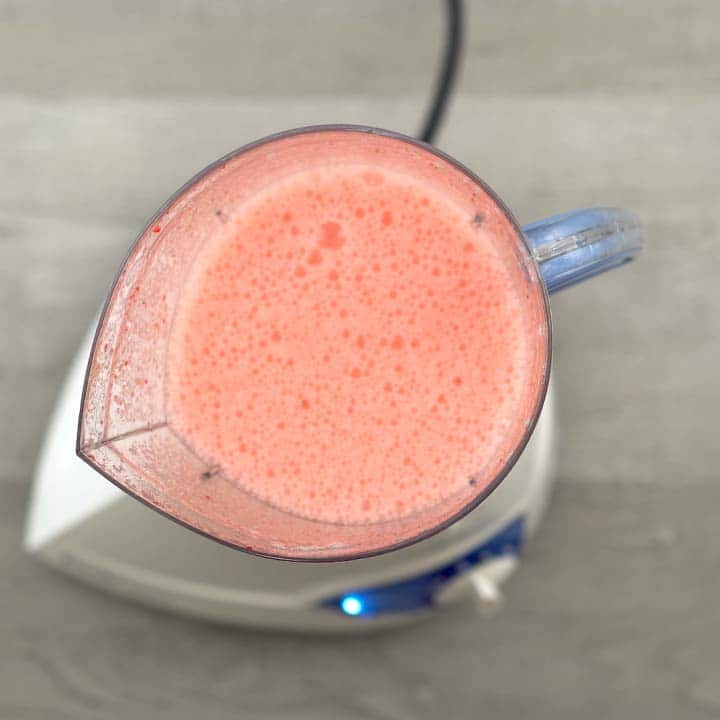 frothy strawberry juice