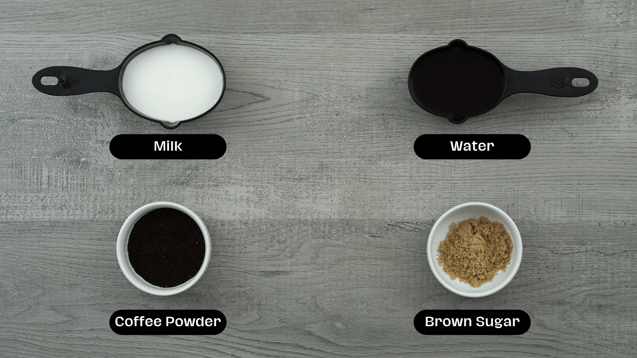 Iced coffee ingredients